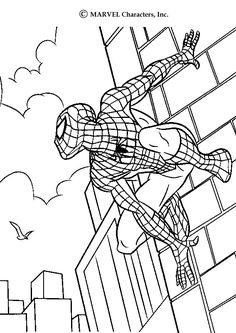 standing spiderman coloring pages | Printable Spiderman Coloring Pages For Kids | Cool2bKids ...