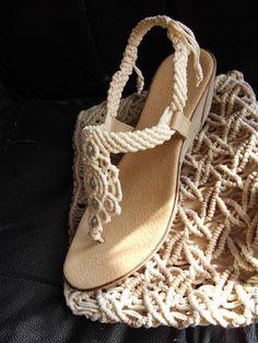 """Купить Босоножки макраме """"Шампань"""" - обувь, женская одежда, женская обувь, летняя обувь"""