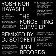 "pncrp: "" Yoshinori Hayashi – The Forgetting Curve EP (Jinn Records) Cover by Al White Design by Simone Spinazzè Typeface ""Venezia"" by Tankboys """