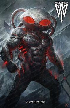 Black Manta by wizyakuza Superhero Characters, Comic Book Characters, Comic Character, Comic Books Art, Comic Art, Aquaman Dc Comics, Dc Comics Art, Marvel Dc Comics, Black Manta