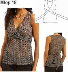 OLà Fiori achei essas blusa muito bonita, e bem simples de fazer. vou guardar, e um dia vou tentar faze la. baci ...