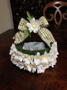 Crape Paper Daisy Basket