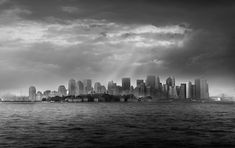 """Photo by Jean Michel Berts portraitist of cities specializing in black and white photos. Photo of the book """"Light of New York"""" Ed: Assouline Battery Park, Assouline, Jean Michel, City Lights, New Jersey, Black And White Photography, New York City, New York Skyline, Nyc"""