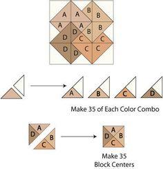 Card trick quilt block