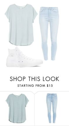 """Hi"" by aissa1026 ❤ liked on Polyvore featuring Paige Denim, Converse, women's clothing, women's fashion, women, female, woman, misses and juniors"