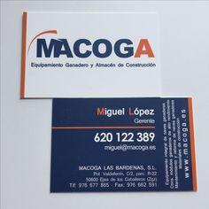 Tarjetas de visita, doble cara plastificado mate - Macoga las Bardenas