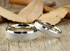 wedding rings sandstone glossy finish