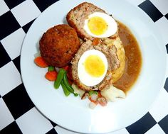 My dad was good friends with a Liberian gentleman and after coming home from a party he would bring my sister an I plate of African cuisine. I loved the Scotch egg, at the time I didn't know the n...