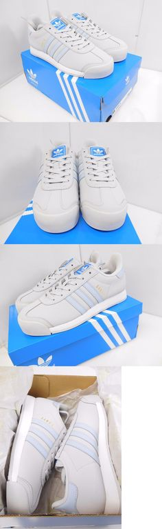 Athletic 95672: Adidas Originals Women S Samoa Casual Shoes Size 8 Us Grey Blue -> BUY IT NOW ONLY: $30 on eBay!