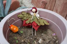 Leaf Fairy Doll Ornament Christmas Tree nature pagan by theFairies