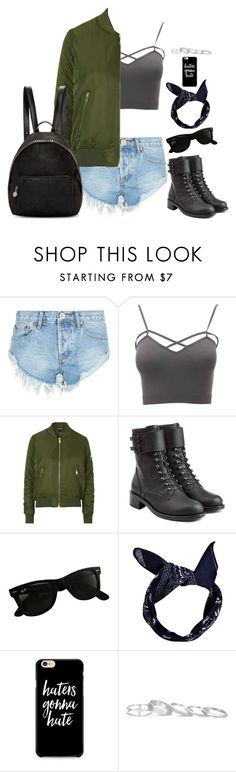 """Unbenannt #4112"" by hitthisfeeling ❤ liked on Polyvore featuring One Teaspoon, Charlotte Russe, Topshop, Philosophy di Lorenzo Serafini, Ray-Ban, Boohoo, Kendra Scott, STELLA McCARTNEY and plus size clothing"