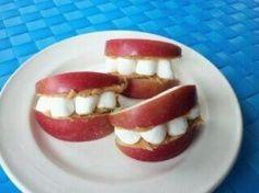 apple teeth - fun treat for community helpers (Dentist)