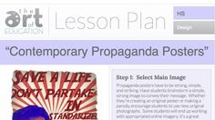 Photography lesson plans for middle school contemporary propaganda posters plan High School Art, Middle School Art, Art Education Lessons, Art Lessons, Graphic Design Lessons, Free Lesson Plans, Photography Lessons, Digital Photography, Art Classroom
