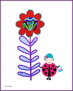 #Ladybug #flowers #sprint #nursery #toddlers #baby #babies #babybump #babybelly #gardens #flower #homedecor #children