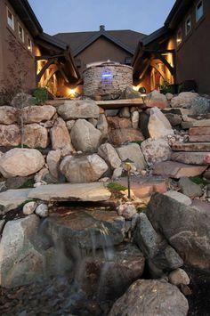 Utah custom water features in the landscaping  www.chrisjensenlandscaping.com Facebook Chris Jensen Landscaping Call chris @ 801-718-5001