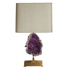 Willy Daro Table Lamp featuring a Brazilian Amethyst.  NEED.
