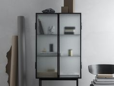 Buy the Haze Vitrine by Says Who for ferm Living in the Connox interior design shop. Buffet Vitrine, Home Decor Furniture, Furniture Design, Vitrine Design, Wired Glass, Decoration Design, Diy Design, Design Shop, Metal Shelves
