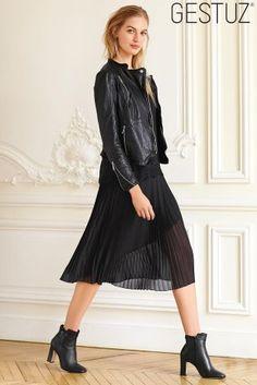 Buy Gestuz Joanna Black Leather Jacket from the Next UK online shop