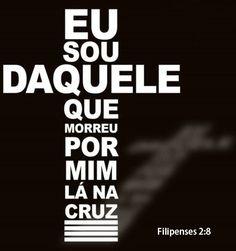 """""""e, achado na forma de homem, humilhou-se a si mesmo, tornando-se obediente até a morte, e morte de cruz.""""FILIPENSES 2:8  #SouDaqueleQue #MorreuPorMim #LaNaCruz https://www.bibliaga.com/index.php/testamentos/novo-testamento-livros/1130-filipenses/filipenses-2/29496-Filipenses-2-8"""
