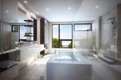 Modern Master bathroom by cecconi simone image