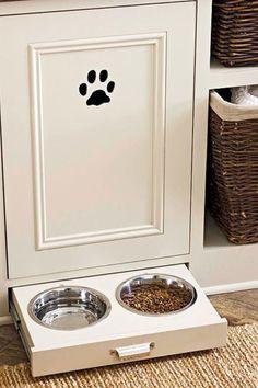 Designate a dog area with a paw print