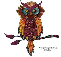 Wise Owl Wall Sticker Decal by MyWallStickers on Etsy, $42.99
