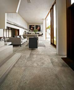 Casa Dolce Casa Velvet Platinum x Large Floor Tiles, Tile Floor, Living Room Flooring, My Living Room, Stone Flooring, Concrete Floors, Large Format Tile, House Tiles, Room Tiles