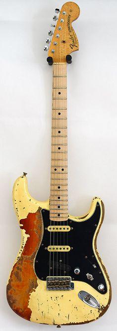 Fender Stratocaster 1969 Garage Mod Hv Relic MBJS