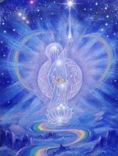 The Holy river. Spiritual Images, Ascended Masters, Goddess Art, Art Graphique, Visionary Art, Russian Art, Sacred Art, Sacred Geometry, Lotus