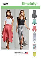 Simplicity 1201 - Pull-On Knit Skirts with Length Variations