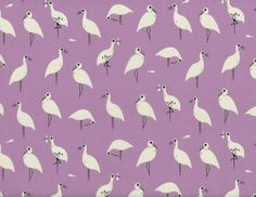 Cotton and Steel Sarah Watts From Porto With Love Snack Time Rayon Fabric Purple