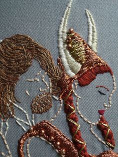 Bloody amazing embroidery! by Mafiosagrrl, via Flickr