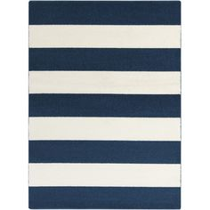 Accent the living room or master suite with this crisp area rug, featuring a boldly striped design.Product: RugConstr...