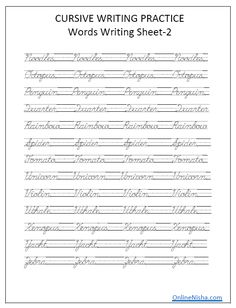Table of contents Cursive Handwriting overview Tips to improve cursive writing Cursive handwriting Video Uppercase cursive handwriting worksheet Lowercase cursive handwriting worksheet Words… Cursive Writing Practice Sheets, Cursive Handwriting Practice, Cursive Writing Worksheets, Cursive Alphabet, Improve Your Handwriting, Handwriting Analysis, English Worksheets For Kids, Penmanship, Caligraphy