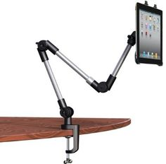 Universal Adjustable Swing Arm Tablet Holder, Table or Car Mount for Apple iPad, ipad 2, new ipad, ipad 3, Galaxy Tab 10.1, Motorola Xoom 10.1, Xoom 2 & various other tablets by King of Flash (TM) Now with a Generic Tablet holder and a specific iPad holder ! !: Amazon.co.uk: Computers & Accessories