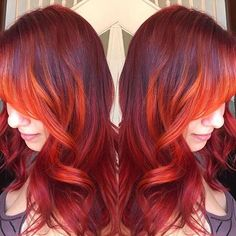 Nice fall colors on this client @cemeterystrut.🍁🍂 Tag #modernsalon to get featured!