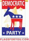Democratic Party applique Garden Flag - 5 left House Flags, Democratic Party, Garden Flags, House Party, Applique, Symbols, Letters, Music, Decor