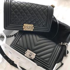 Chanel 'Boy' bags | pinterest: @Blancazh
