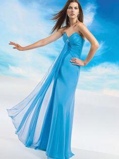 (NO.0242519 )Sheath / Column Sweetheart  Ruffles  Sleeveless Floor-length Chiffon Bridesmaid Dress / Prom Dress / Evening Dress