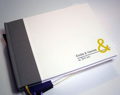 Personalized Guest Book. Your text on the cover.