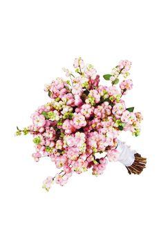 Pink snowberry bouquet on http://www.bridesmagazine.co.uk