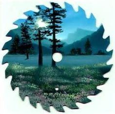painting on old saw blades - Yahoo Image Search Results