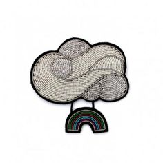 Macon et Lesquoy  Cloud & Rainbow Sky Brooch  - Trouva