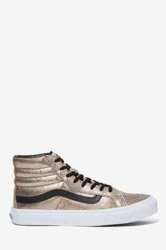 Vans Sk8-Hi Sneaker - Metallic Crackle Leather