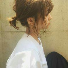 ꒰ 彡pinterest: @hoeforyanjun彡 ꒱ Hair Arrange, Ponytail Hairstyles, Short Hair Ponytail, Hairstyles Haircuts, Pretty Hairstyles, Haar Make-up, Love Hair, Gorgeous Hair, Hair Inspo