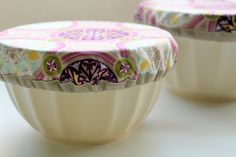 Cloth bowl covers(to use instead of plastic wrap)...look super easy to make