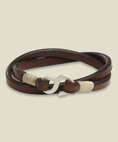 Tanner Goods Leather & Sterling Silver Wristband