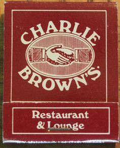 Charlie Brown's Restaurant & Lounge 20 stem #matchbook Pic. by #JoeDanon To order your business' own branded #matchbooks call TheMatchGroup @ 800.605.7331 or go to www.GetMatches.com today!