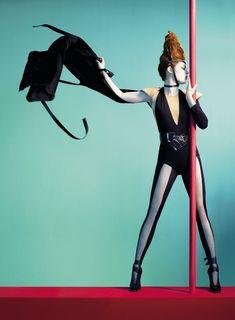 """La Mode"" | Model: Coco Rocha, Photographer: Sophie Delaporte, Les Echos, FW 2009/10"