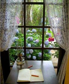 6 Creative And Inexpensive Unique Ideas: Curtains Rods Shelf grey curtains brass pole.No Sew Curtains Short curtains design detail.Curtains For Sliding Patio Door Ideas. Decoration Shabby, Decoration Design, Interior Exterior, Interior Design, Looking Out The Window, Lace Curtains, Patterned Curtains, Layered Curtains, French Curtains